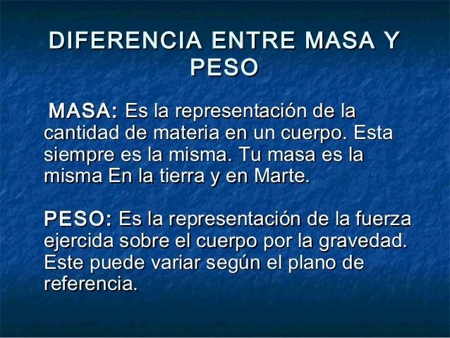 Masa y peso for Diferencia entre yeso y escayola