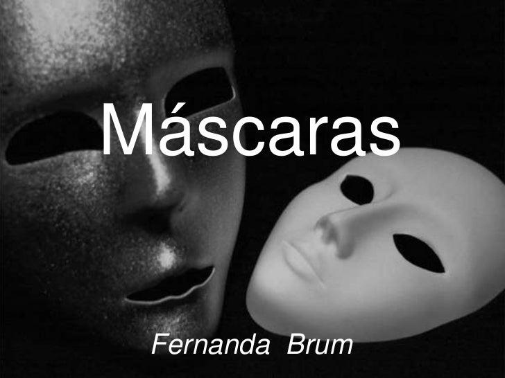 Máscaras Fernanda Brum