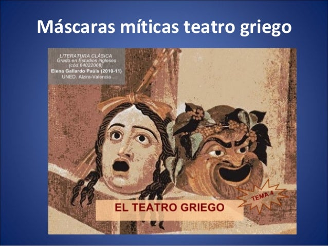 Máscaras míticas teatro griego
