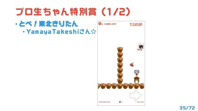 36/72 プロ生ちゃん特別賞 (2/2) • ジスたん(物理)で飛ぶ東北きりたん • tobynetさん
