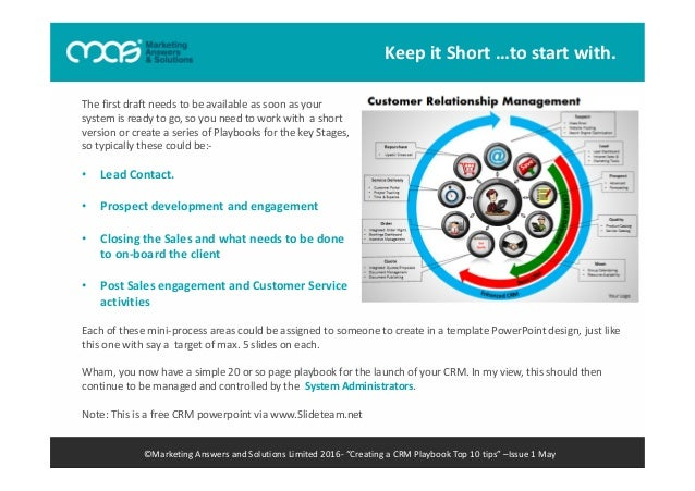 Mas creating a crm playbook ebook playbook top 10 tips issue 1 may 13 fandeluxe Image collections