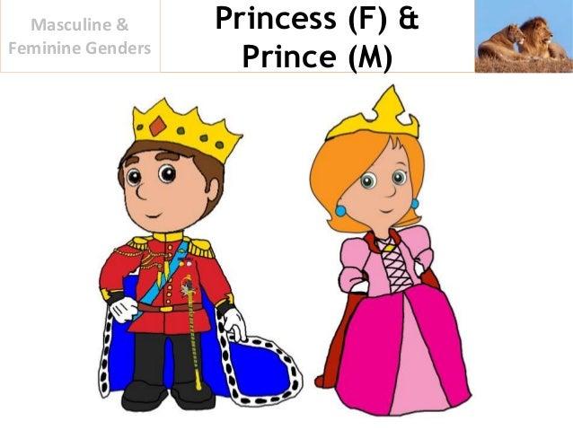 Princess (F) U0026 Prince (M) Masculine U0026 Feminine Genders ...