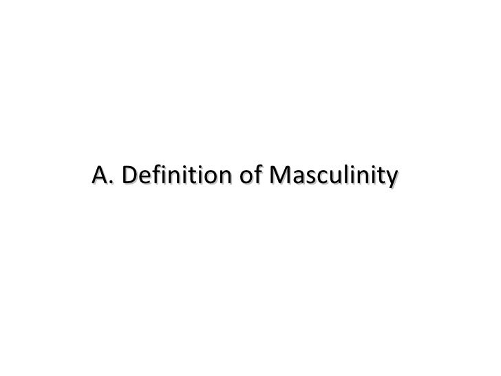 Why We Need to Reimagine Masculinity
