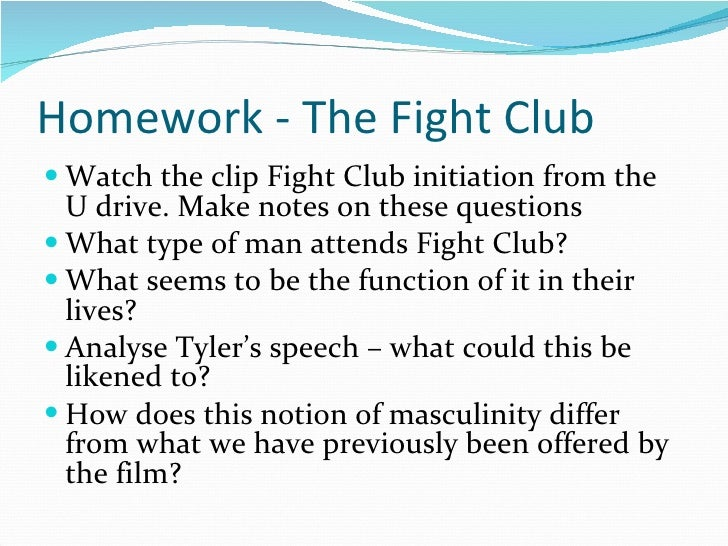 fight club thesis statement masculinity Persuasive speech drugs fight club essay thesis statement phd thesis download thesis statement on fight club: the repression of masculinity and its effects on.