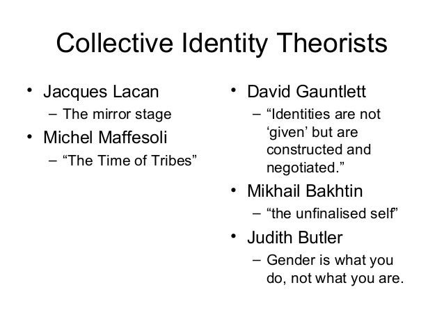 judith lorber the social construction of gender The social construction of gender is a theory in feminism eckert's statement points to judith butler's view of gender as being performative.