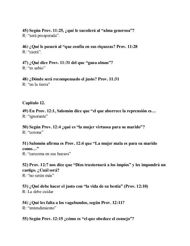 Mas De 140 Preguntas Y Respuestas Del Libro De Proverbios