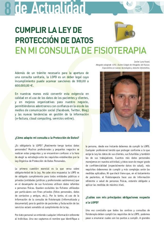 Protección de Datos y Fisioterapia