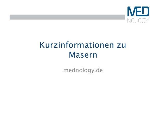 Kurzinformationen zu Masern  mednology.de