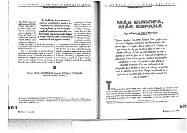 """i        LA CONCERTACIÓN Y Los AGENTES   . .  SOCIALES EN ESPANA     """"En Ii¡ década de los noventa d P """" J' mma c ¡ouçam! ..."""