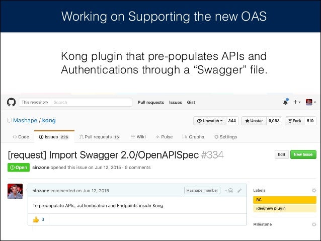 """Working on Supporting the new OAS Kong plugin that pre-populates APIs and Authentications through a """"Swagger"""" file."""