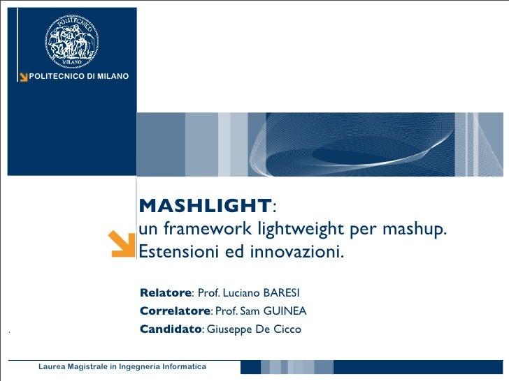 POLITECNICO DI MILANO                               MASHLIGHT:                           un framework lightweight per mash...