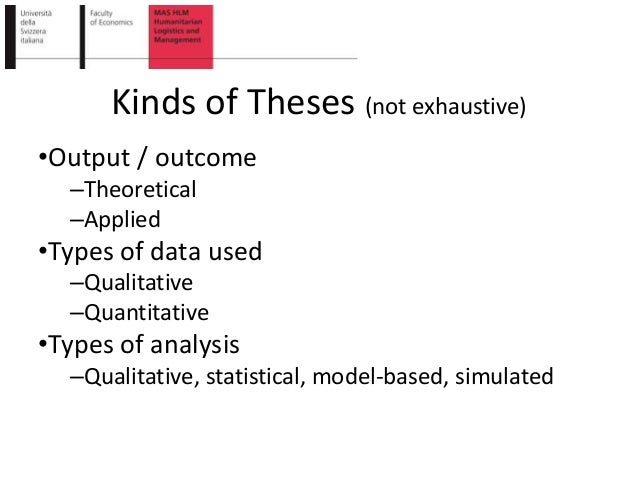 kinds of thesis system