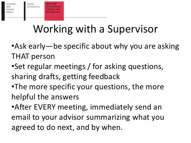 master thesis advisor supervisor abbreviation