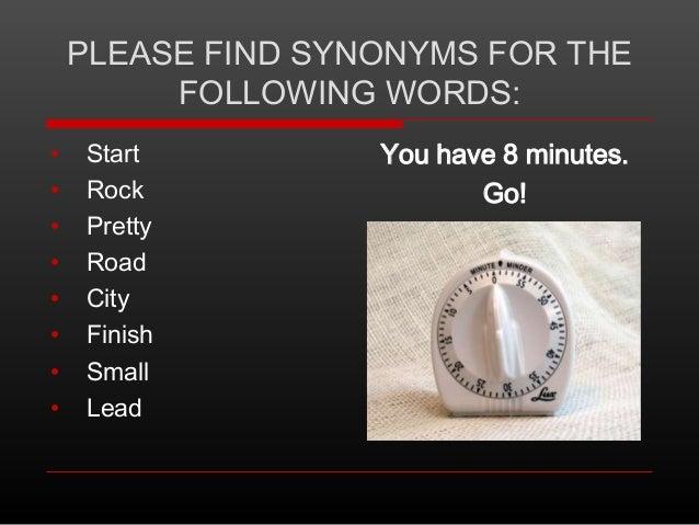 Synonyms and Antonyms (Mashup)