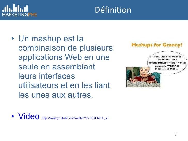 Mashup et Marketing Slide 3