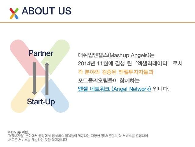 매쉬업엔젤스 미디어킷(Mashup Angels Media Kit)_2015.11 Slide 2