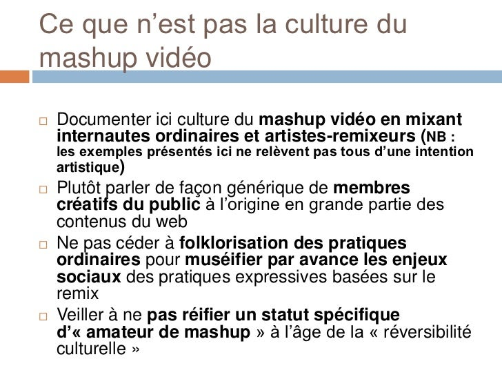 Mashup, remix, détournement: nouveaux usages des images sur les réseaux sociaux   Slide 3