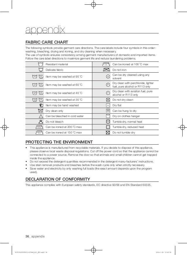 Samsung Dryer Symbols Choice Image Free Symbol Design Online