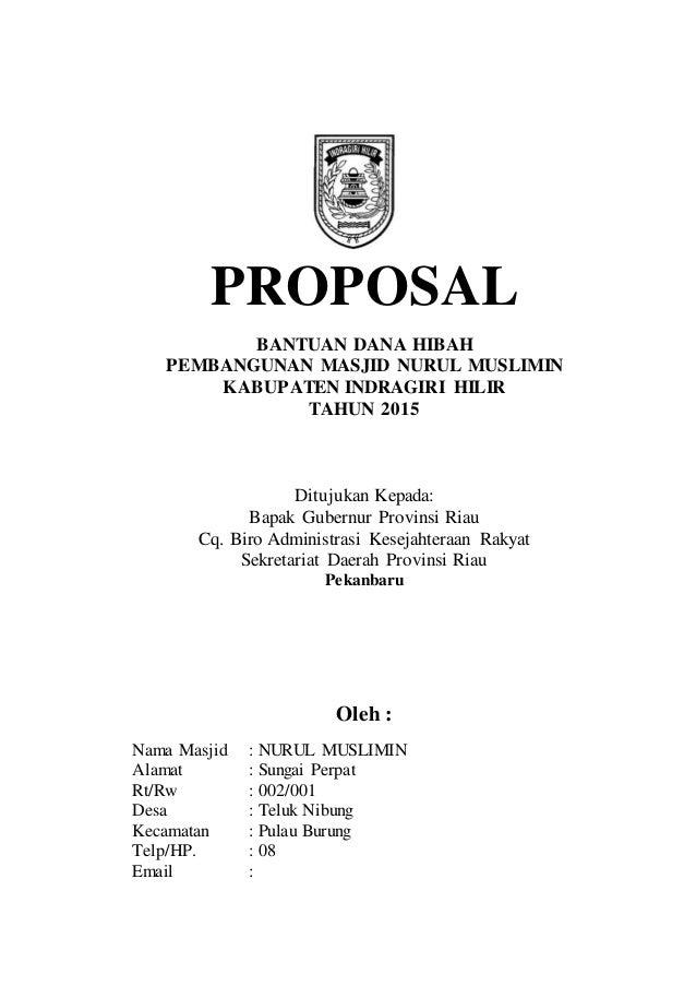 Proposal Masjid Nurul Muhajirin