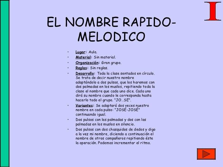 EDUCACIÓN FISICA JUEGOS Y CANCIONES