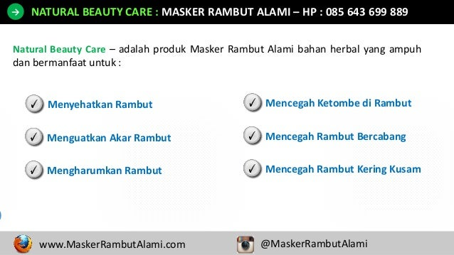 HP 0856 4369 9889 Masker Rambut Kering Dan Mengembang