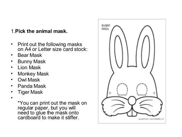 Printable Mask making