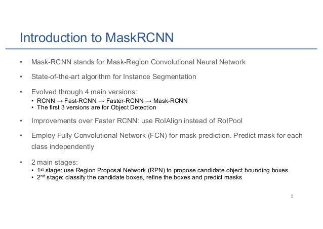 Mask-RCNN for Instance Segmentation