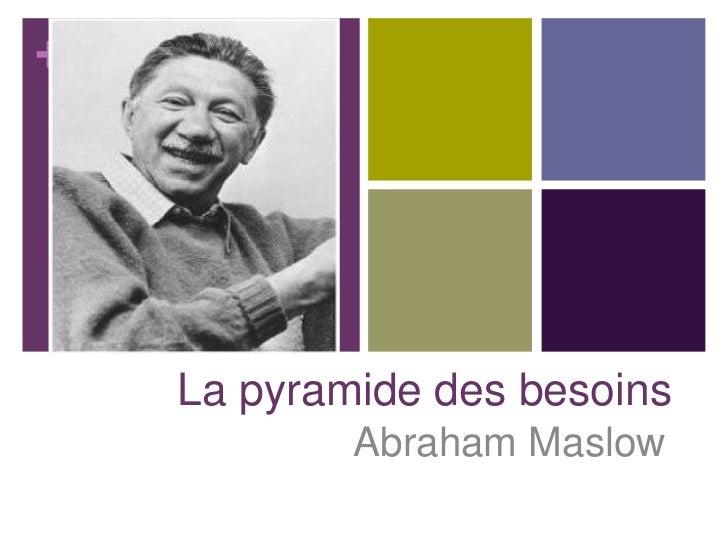 +    La pyramide des besoins            Abraham Maslow