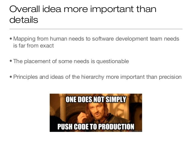 Software Team Hierarchy of Needs