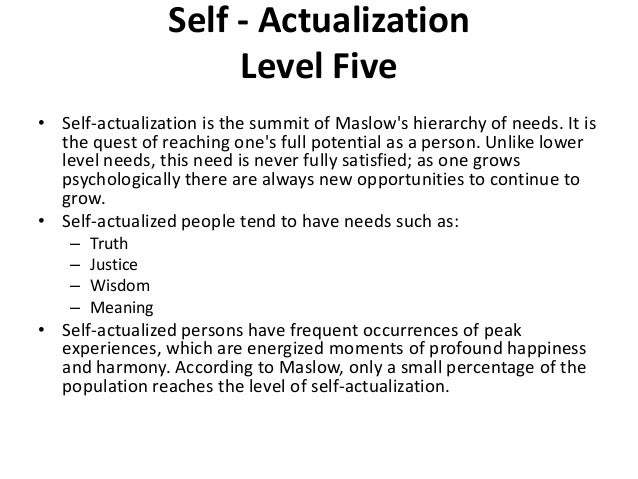 examples of self actualized people