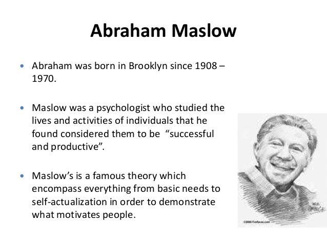 Abraham maslow summary