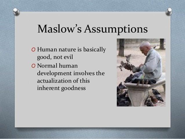 Psychology Assumptions About Human Nature