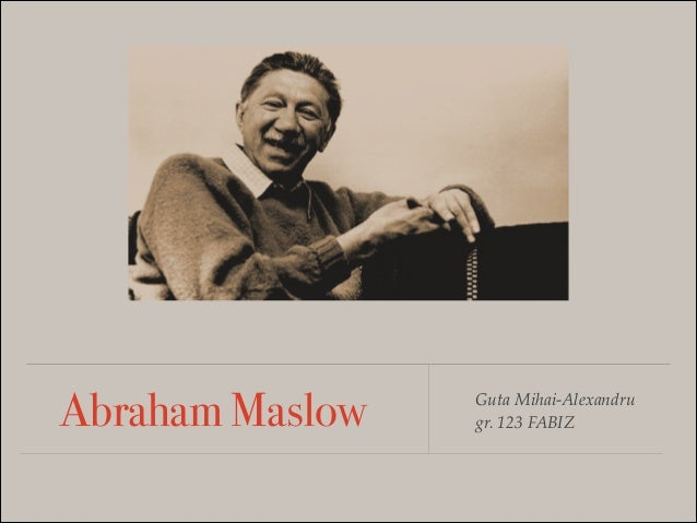 abraham maslow humanistic theory pdf