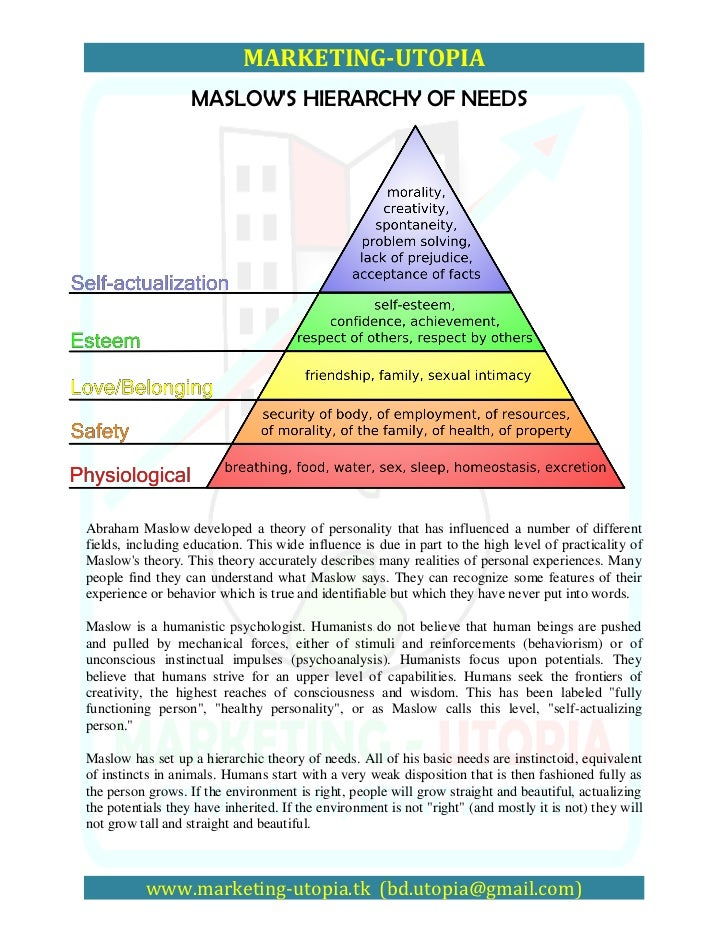 personality theorists bandura and maslow Abraham maslow's hierarchy of needs, free maslow diagrams, downloads, maslow pyramid, motivational needs model, plus free online training and organizational development materials, samples, diagrams and techniques for sales, management, team building, communications and motivation.