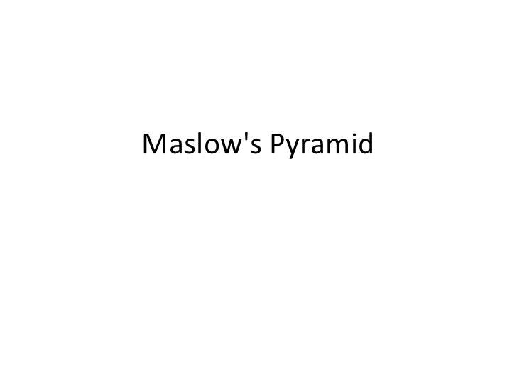 Maslow's Pyramid<br />