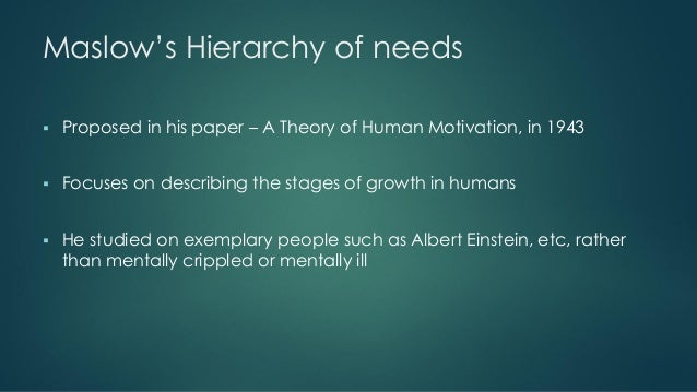 criticisms of maslow's hierarchy of needs Maslow's hierarchy of needs citation: huitt, w (2007) maslow's hierarchy of needs educational psychology interactive valdosta, ga: valdosta state university.
