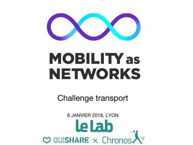 LES PARTENAIRES DE L'EXPLORATION Mobility as Networks