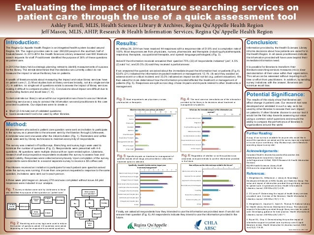 poster presentation  evaluating the impact of literature