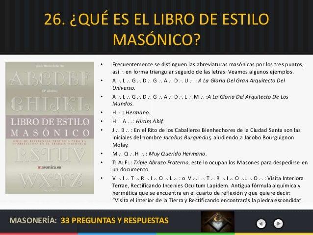 Masoner a 33 preguntas y respuestas - Abreviatura de arquitecto ...