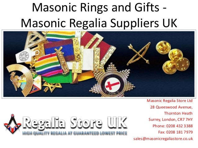 Masonic regalia suppliers UK