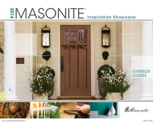 MASONITE ®2014 the beautiful door Inspiration Showcase EXTERIOR DOORS MIC-13310-2014- ... & Masonite Door Catalog