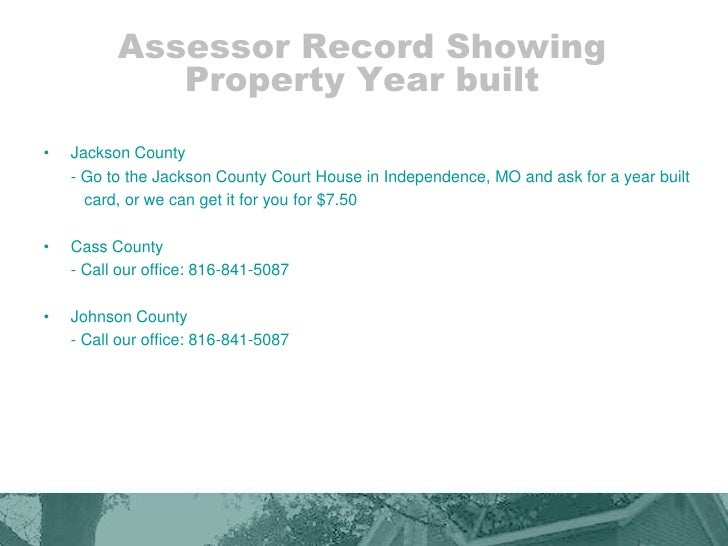Johnson County Mo Assessor Property Search