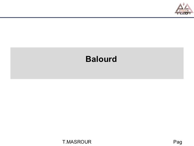 Balourd  T.MASROUR  Pag