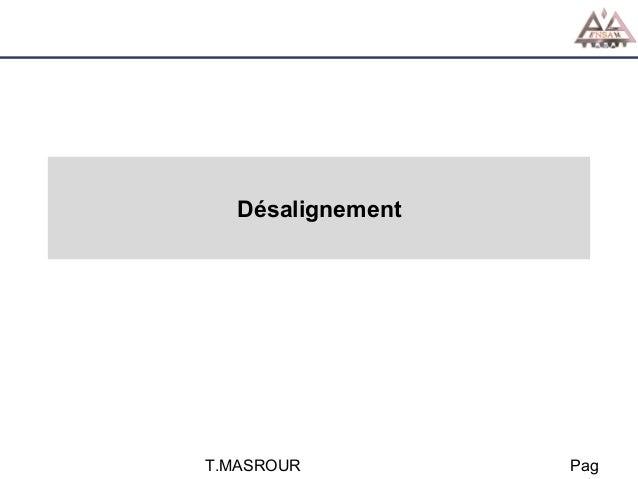Désalignement  T.MASROUR  Pag