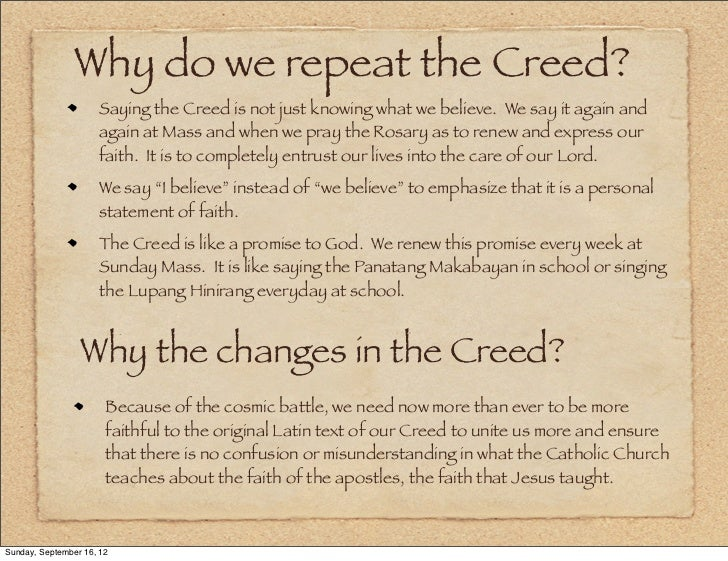 term paper understanding the apostles creed through films Religion research papers are custom baptism - baptism term paper looks at the role of nicene creed - the nicene creed research papers look at.
