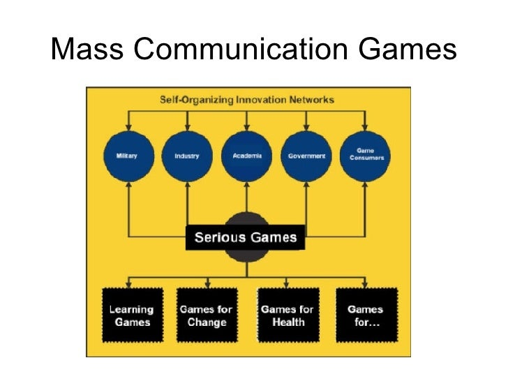 Mass Communication Games