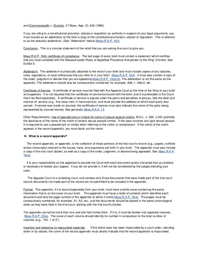 Mass Court Of Appeals Website Info