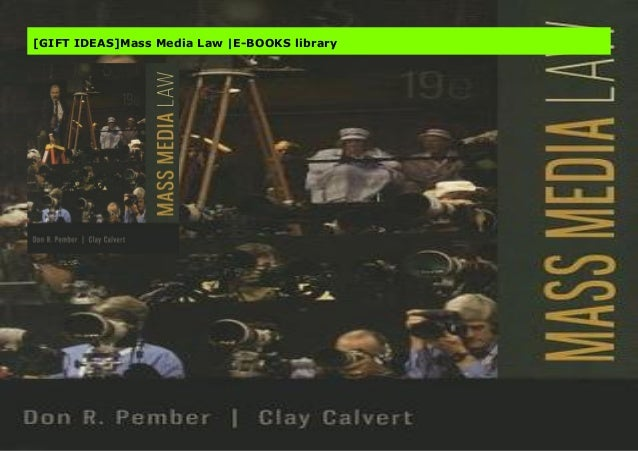Gift Ideas Mass Media Law E Books Library
