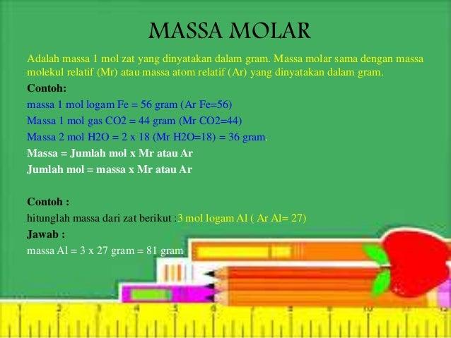 Massa atom, jumlah partikel, dan mol