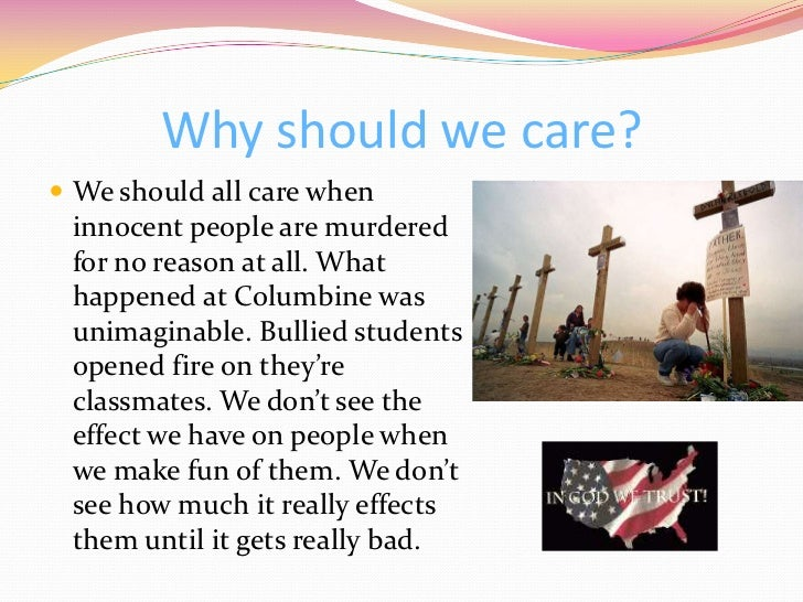 effects of the columbine massacre School violence and social control theory: an evaluation of the columbine massacre michael l pittaro1 council on alcohol and drug abuse, allentown,.